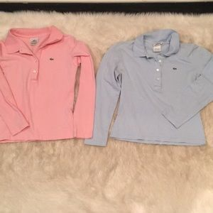 Lacoste long sleeve polo shirts size 40